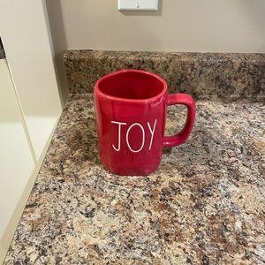 Rae Dunn Red Joy Christmas mug